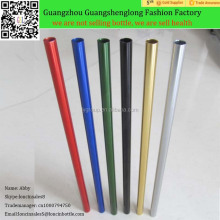Multi Color Aluminum Straws ,Creative aluminum plated color and Heavyweight Straw,Travel Mug Replacement Straws