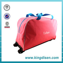 Wholesale 600D polyester sports duffle trolley travel bag
