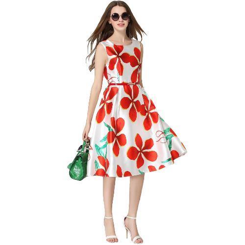 New Sexy Summer Women Mini Dress Irregular Geometry Print O Neck Half Sleeve Elegant Dress Rose
