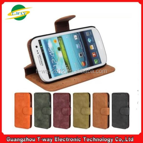 Wallet flip cover For Samsung Galaxy S3 i9300 leather case