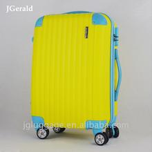 Modern design abs pc large colourful travel trolley luggage bag