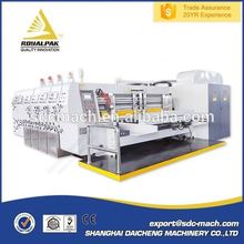 Easy operation CNC 5 layer carton box flexo ink printer rotry slotter die cutter machine