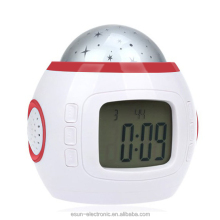 Big discount! Star light desk digital projection talking alarm clock desk musical clock with time and date