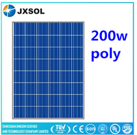 High quality solar energy system price 200watt solar panel with a,b grade solar cell