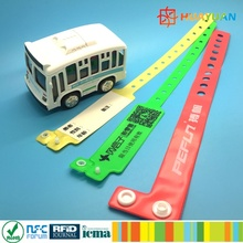 Disposable Passive Event Ticket Vinyl RFID Wristbands ID Bracelets