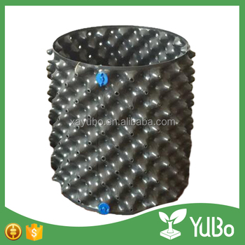hot sale good quality black plastic container for plants root control