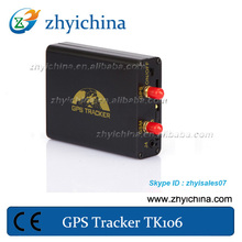GPS tracker fuel alarms TK-106A with SOS,view photos on cell phone