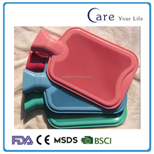2017 New Classical and super soft plush rubber hot water bottle