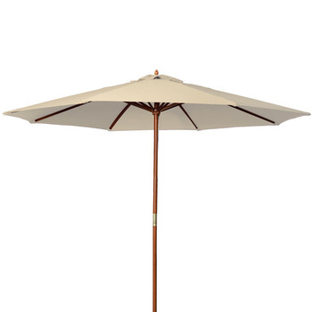 Easy install and foldable wood frame outdoor patio umbrella