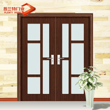 Main front double swing door designs home in solid wood for commerical