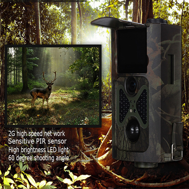 HC-500A Hunting Camera 12MP 1080P 120 Degrees PIR Sensor Sight Angle Wildlife Trail Scouting Camera