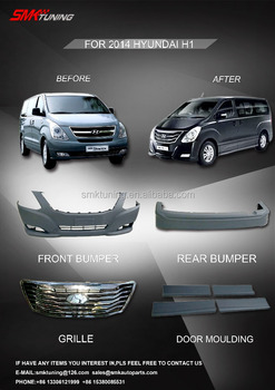 HYUNDAI H1 2014 NEW MODEL GRILLE,08 UPGRADE TO 14 STAREX BUMPER,BODY KIT