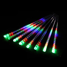 Christmas LED Outdoor 30/50/80 cm White Rain Drop Meteor Shower Lighting for Tree Decoration