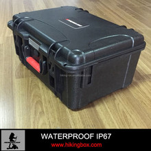 Plastic waterproof case for padded equipment case