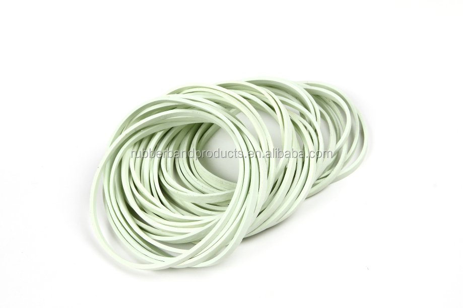 Size 18 Durable Wide Flat Solid White Color Natural Rubber Band For Money , Unbreakable Elastic Silicone Rubber Band Wholesale
