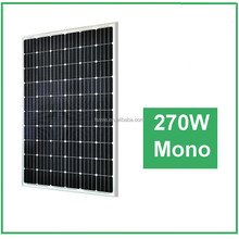 Top Sale ! High Efficiency and Good Quality 270W mono Solar Panels for home use, 0.52/watt