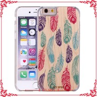 custom cell phone wooden case printing bamboo cover case for iphone 6