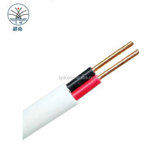 Cable Manufacturer 450/750V PVC insulated and sheathed twin and earth electric flat cable 6242y wire