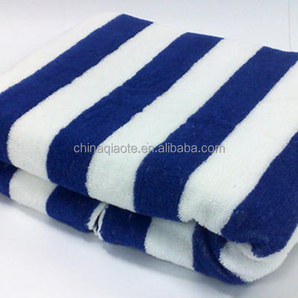 large size adult 100% cotton striped promotional beach towel