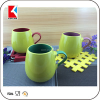 wholesale creative shape plain color glazed stoneware cups ceramic ball shape mug