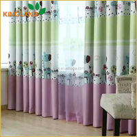 Printed Fancy Blackout Curtains Drapes With Valance For Hotel