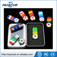Game Wrist football usb memory sticks 4GB 8GB 16GB PVC Mini usb pen Drive 2.0 wristband usb for souvenir