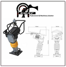 Permier Electric Motor, Tamping rammer ERAY-H82T for road maintenance