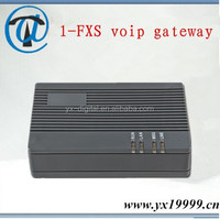 Made in China sip&h.323 protocal voip phone adapter fxs 1 port voip ada