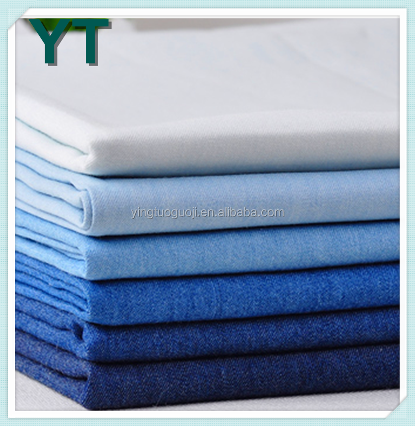 Hot Sale top quality pure cotton denim fabric in rolls