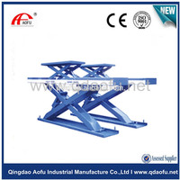portable electric in-ground scissor lift table