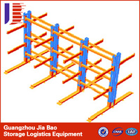 Double Side Steel Pipe Storage Cantilever Storage Racks With Powder Coating