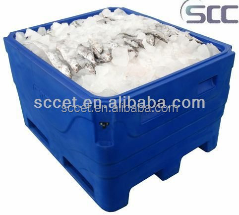 1000L Insulated fish tub, plastic fish bin, large cooler