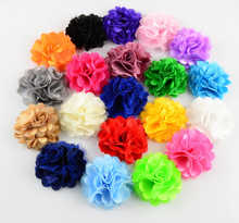 5CM Factory Outlet Fabric Chiffon Flowers Handmade Chiffon Flower for Shoes