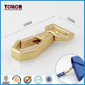 New Shiny Gold Metal Swivel Bag Clasp for Wallet