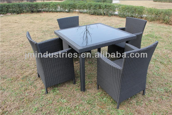 Rattan dining table set