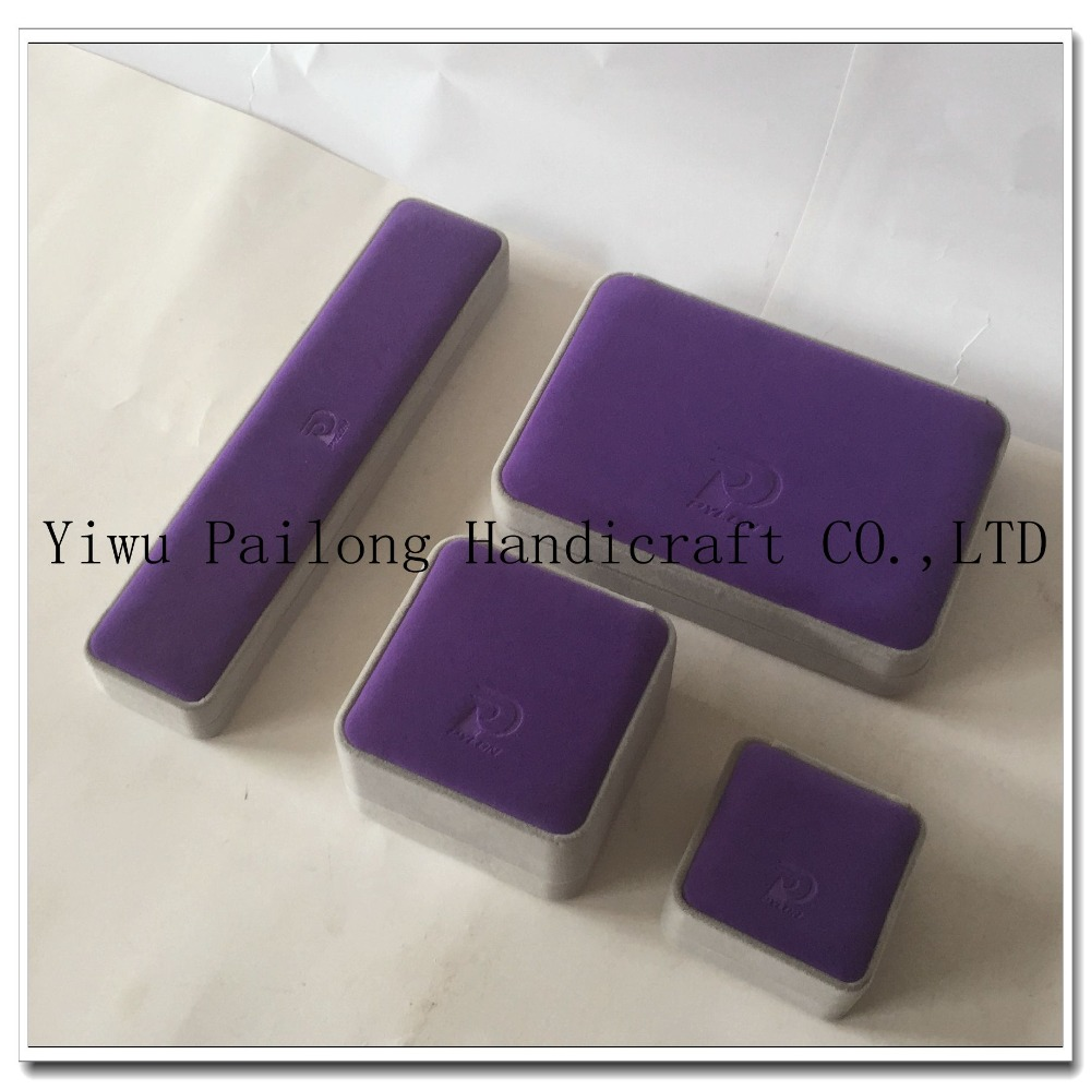 Flocking jewelry Boxes Purple Jewelry Packing Wholesale Box Equitable Price