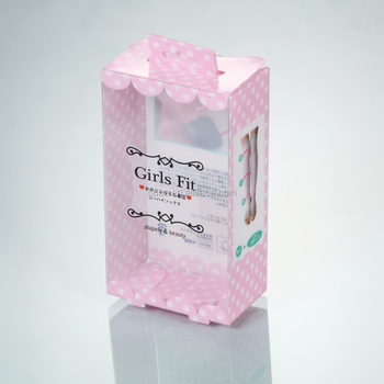 Custom Clear transparent plastic box packaging of gift shoe boxes