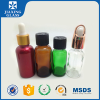 Cosmetic Essential Oil Glass Skincare Bottle Packaging Empty Glass Bottle With Dropper/Orifice Reducer