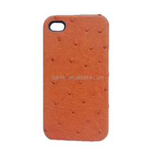 Luxury Real Ostrich Leather oem Back Cover for Apple Iphone 5