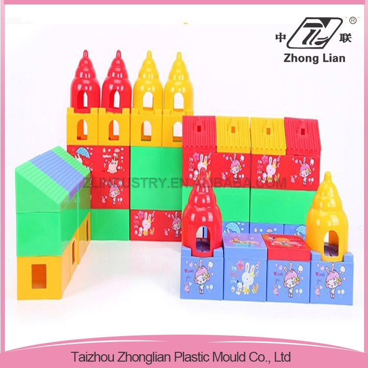 Superior ergonomic design customized plastic large building blocks toy