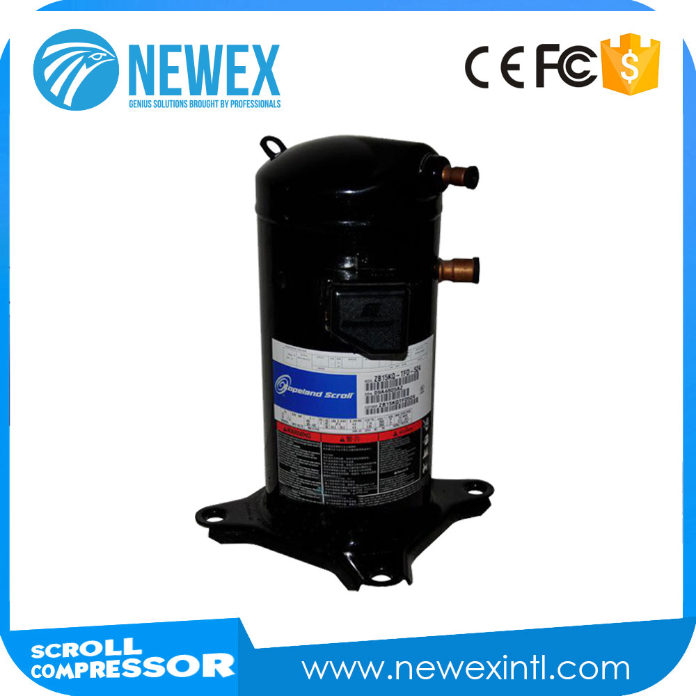 Low Sound And Vibration Level Hermetic Scroll Compressor R22 Refrigeration Cr 30 Copeland Compressor 5Hp