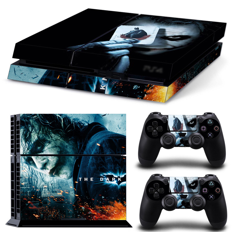 Joker Batman skull for PS4 skin sticker decal skin color skin sticker game accessories controller #TN-PS4-0082