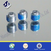 Nylock plated Din916 set screw