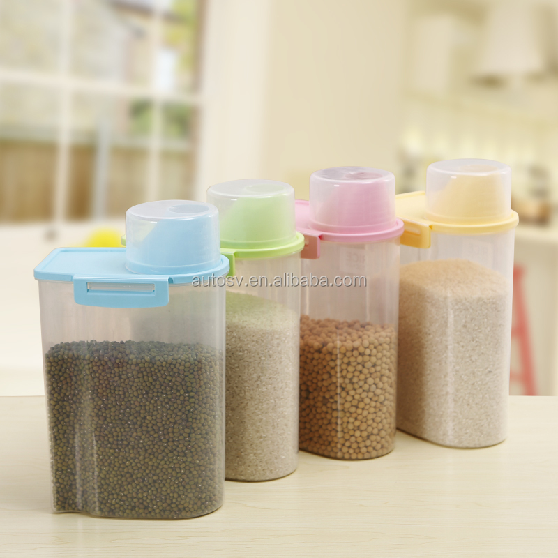 hot selling empty Plastic Material kitchen Storage Bottles and Jars