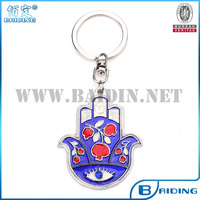 oil drop evil eye blue hamsa keychain keyring in stock
