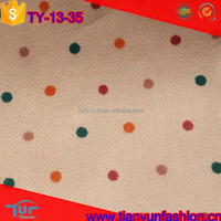 colorful polka dot stylish raw cotton prints twill fabric wholesale
