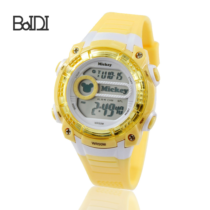 alibaba express waterproof cold light sport watches plastic watch
