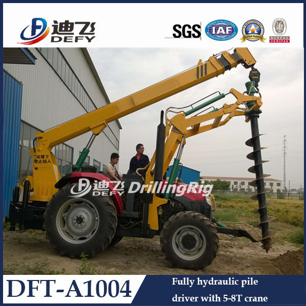 Auger Crane Pile Driver/ Power Pole Erection Machine