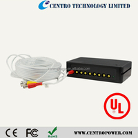 Factory wholesales 12V 9channels 10A power adaptor power supply with UL approval