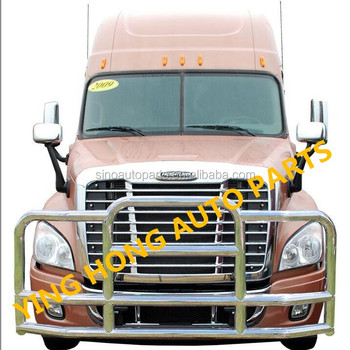grille guard 304 stainless steel Front Bumper For Freightliner Cascadia Truck For VOLVO VNL Truck Deer Guard
